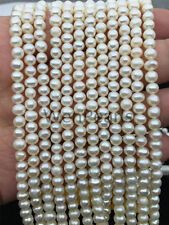 AA 5mm white near round  Potato Genuine Freshwater Pearls Loose Beads,wholesale