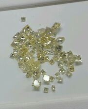 Natural loose fancy yellow diamonds  princess cut 2-3.mm  7-15 points  1 stone