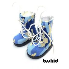"Y05 BJD Yo-SD 1/6 Dollfie 13"" Effner Camouflage BLUE LITTLE DARLING Doll Boot"