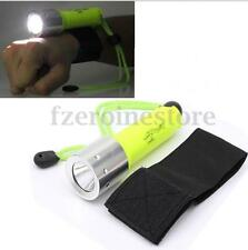 Underwater 50m Diving T6 LED18650 Flashlight Torch Waterproof + Wrist Band