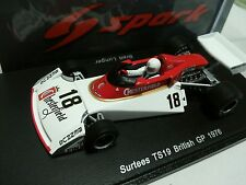 SPARK S4007 1/43 F1 SURTEES TS19 BRETT LUNGER BRITISH GP 1976 WITH TOBACCO DECAL
