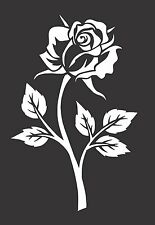 Rose Flower- Die Cut Vinyl  Window Decal/Sticker for Car/Truck