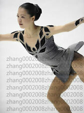 Ice skating dress.gray/black Competition Figure Skating /Baton Twirling custome