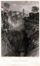 SORRENTO: Panorama 1. Golfo di Napoli. ACCIAIO. Stampa Antica. Certificato. 1831