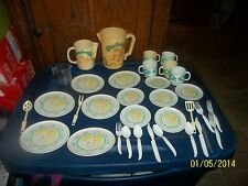 VINTAGE 1983 CABBAGE PATCH KIDS PLAY DISHES FORKS KNIVES SPOONS PITCHERS CUP LOT