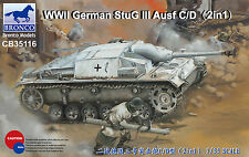 BRONCO CB35116 WWII German StuG III Ausf.C/D (2in1) in 1:35