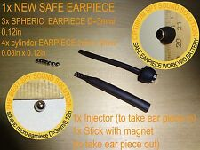 SAFE SPHERIC INVISIBLE MICRO MINI SPY NANO EARPIECE HEADSET EARPHONE REPLACEMENT