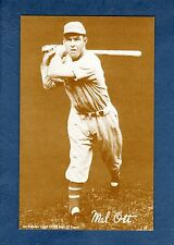 An Exhibit Card 1980 Hall of Fame: MEL OTT, New York Giants (SEPIA/brown back)