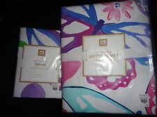 Pottery Barn TEEN BUTTERFLY DUVET COVER W/ SHAM-TWIN SIZE-NEW IN PACKAGE