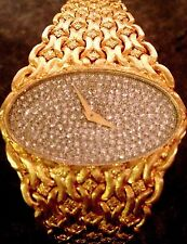 CORUM EXQUISITE 18K SOLID YELLOW GOLD & PAVE DIAMOND WATCH