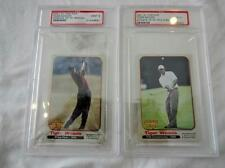 Pair Tiger Woods graded mint 9 trade cards Lot 143