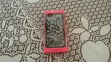 Victoria's Secret Black Bling Rhinestones Flexible Hard Case for iPhone 6 New