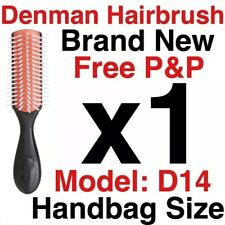 Denman D14 Small Handbag Size Hair Styling Brush (5 ROWS) Brand New Free Postage