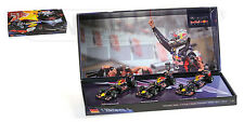 1:43 Minichamps 3 CAR SET RED BULL SEBASTIAN VETTEL 3x WORLD CHAMPION 2010-2012