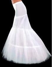 2 Hoop Fishtail Mermaid Cocktail Bridal Wedding Dress Petticoat Underskirt