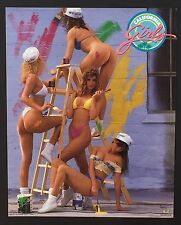 Hot Chicks on Ladder California Girls ~ Vintage Bikini Poster Print 16 x 20 085
