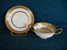 Royal Doulton H2907 Heavy Gold Encrusted Cream Soup and Saucer Set(s)