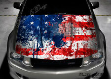 US Flag Full Color Graphics Adhesive Vinyl Sticker Fit any Car Hood #291