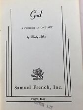 GOD BY WOODY ALLEN *FIRST EDITION*