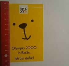 Aufkleber/Sticker: Olympia 2000 in Berlin ich bin dafür (101216118)