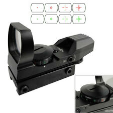 Holographic 4 Type Reticle Red Green Dot Sight w/ Picatinny Weaver 20mm Rail F07