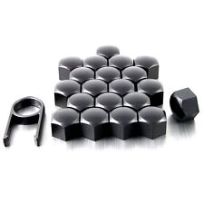 20 17mm MATT BLACK ALLOY WHEEL NUT BOLT COVERS CAPS UNIVERSAL SET FOR PORSCHE
