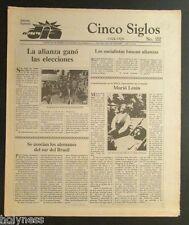 EL NUEVO DIA  / VINTAGE NEWSPAPER / CINCO SIGLOS DE HISTORIA # 22 / PUERTO RICO