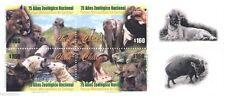 Chile 2000 #2037-40 75 años del Zoologico Nacional MNH con viñeta