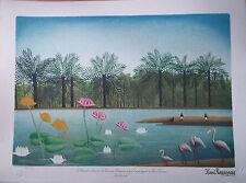 Henri Rousseau - LIthographie originale signée et numérotée 300ex