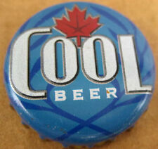 COOL BEER used Beer CROWN, Bottle CAP with Maple Leaf, Guelph, Ontario, CANADA