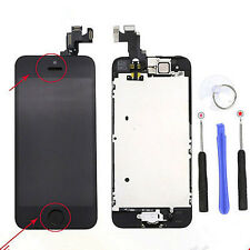 For iPhone 5S Black LCD Display Digitizer Assembly+ Home Button Camera A++++