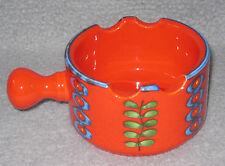 SMF Schramberg Aschenbecher Budapest Keramik Rot 70er Jahre Vintage
