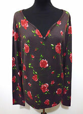 MARIELLA BURANI Maglia Donna Viscosa Flower Woman Rayon Sweater Sz.XL -  48