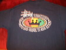 VINTAGE STUSSY T SHIRT ORIGINAL USA 1ST RASTA LARGE NO MAJOR STAINS OR HOLES