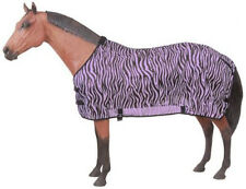 Fly Repellant Zebra Scrim Turnout Sheet 75 Horse Black & Purple Mesh Light