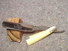 VINTAGE STRAIGHT RAZOR/MARSH BROTHERS & CO. PONDS WORKS SHEFFIELD/ROXO-ON BLADE