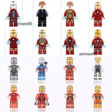16pcs Marvel Comics Iron Man Tony Stark Super hero Avenger fits lego Minifigures