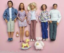 Pregnant Midge Barbie Doll Alan Grandpa Grandma Doctor Happy Family Baby Bump