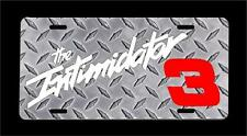 Intimidator #3 dale Earnhardt fan white text metal license plate + FREE SHIPPING