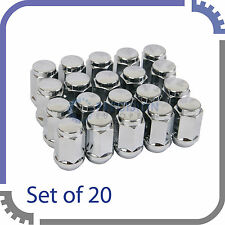 "(20) 12x1.5 Bulge Chrome Lug Nuts | Acorn Cone Seat for 5-Lug Wheels | 3/4"" Hex"
