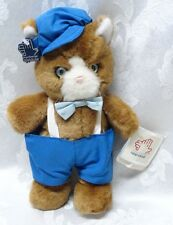 Applause Kitty Cat #4659 Vintage Mystical Blue Eyes Cap Plastic Tags Brown Tony