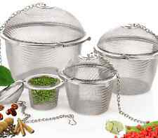 Practical Tea Ball Spice Strainer Mesh Infuser Filter Stainless Steel Herbal EY