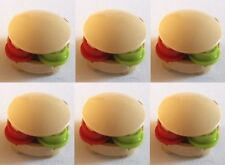 Lego 6 X Burger Food Buns for Minifigs Spongebob Bread NEW