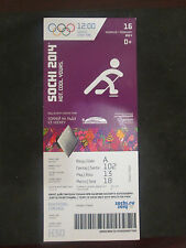 2014-SOCHI WINTER OLYMPICS- AUSTRIA 3-NORWAY 1 MEN;S HOCKEY FIRST ROUND FULL TKT