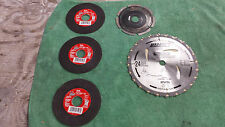 "IRWIN 24030 7-1/4"" MARATHON portable corded circular saw ASSORTMENT OF  BLADES"