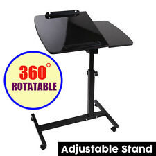 Rotating Mobile Laptop Computer iPad PC Desk Adjustable Stand Table Bed Tray