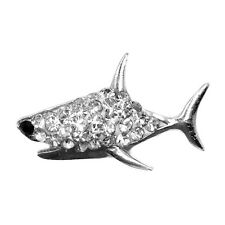 Clay Rhinestone Shark Charm Chunk Snap Button for Noosa Bracelet Necklace TN09