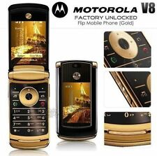 MOTOROLA MOTO RAZR2 V8 Gold Edition (Unlocked) FlipMobile Phone NO BOX SEE PIC