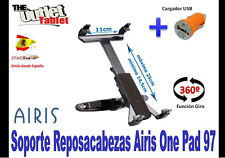 SOPORTE REPOSACABEZAS PARA Airis One Pad 97 + CARGADOR MECHERO USB