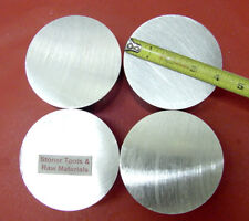 """4 Pieces 4"""" ALUMINUM 6061 ROUND SOLID ROD 1/2"""" LONG 4.00"""" T651 Lathe Bar Stock"""